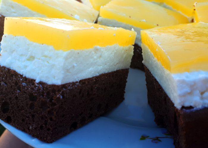 Cukormentes, diétás Fanta szelet (Mirinda szelet) szénhidrátcsökkentett lisztből