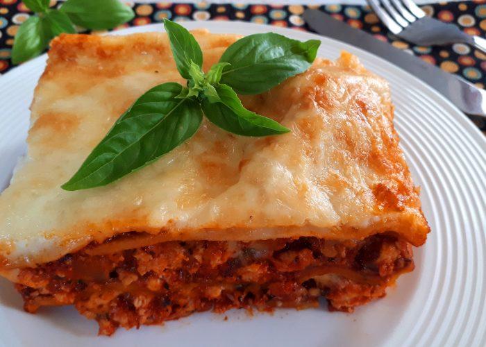 Lasagne diétásan, házi szénhidrátcsökkentett tésztából